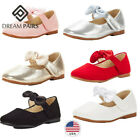 DREAM PAIRS Kids Girls Flat Shoes Mary Jane Shoes Bow Knot D