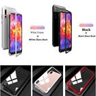 Metal Magnetic Frame 9H Glass Back Cover Huawei P20 Pro Case  + Screen Protector