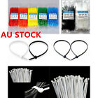 "AU 100pcs 6.6"" Winged Nylon Plastic Cable Zip Ties Cord Wrap Wire Strap NG09"
