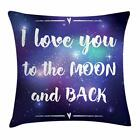 Love Phrase Throw Pillow Cases Cushion Covers Home Decor 8 Sizes by Ambesonne