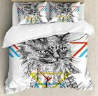 Ethnic Feather Duvet Cover Set Twin Queen King Sizes with Pillow Shams Ambesonne