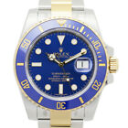 New Rolex Submarine Date Blue Automatic Stainless Steel Gold 116613LB Watch 40mm