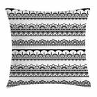 Ethnic Henna Throw Pillow Cases Cushion Covers Home Decor 8 Sizes by Ambesonne