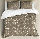 Botanical Flowers Duvet Cover Set Twin Queen King Sizes with Pillow Shams