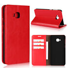For Sharp Android One S3 Genuine Leather Flip Card Slot Stand Wallet Case Cover