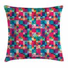 Colorful Shapes Throw Pillow Cases Cushion Covers Home Decor 8 Sizes Ambesonne