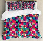 Colorful Shapes Duvet Cover Set Twin Queen King Sizes with Pillow Shams image