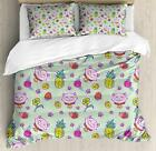 Vintage Kids Duvet Cover Set Twin Queen King Sizes with Pillow Shams Ambesonne
