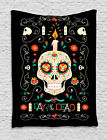 Mexican Sugar Skull Tapestry Wall Hanging Art Decoration for Room 2 Sizes