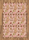 Retro Drawing Area Rug Flat Woven Accent Rug Home Decoration 2 Sizes