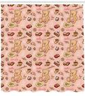 Retro Drawing Pattern Shower Curtain Fabric Decor Set with Hooks 4 Sizes