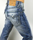 True Religion Men's Hand Picked Chainstitch Straight Super T Jeans - 100112