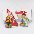 disney movie club toy story & Beauty and the Best ornaments Lot of 2