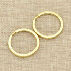 2 Pcs Solid Brass Round Rings Buckle Hook Loop Keyring Keychain 15-20-25-30mm