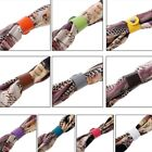 10pcs Elegant Leather Scarf Buckle Silk Ring Clip Holder For Women Ladies Gifts