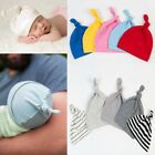Внешний вид - 1PC Newborn Baby Boys Girls Beanie Knotted Cotton Hat Soft Cap Infant Toddle Hat