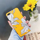 Petals painted floral Glossy soft TPU phone Cases For iphoneX MAX 6 6s 7 8 Plus
