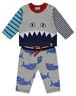 Lilly and Sid Baby Boy Shark Applique Jogger Set