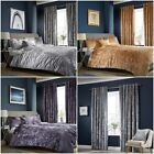 Crushed Velvet Luxurious Duvet Cover Sets / Matching Curtains / Cushion Covers image