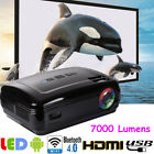 7000 Lumens 1080P WiFi Android Bluetooth 3D LED Home Cinema Theater Projector AM