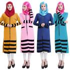 New Long Sleeve Muslim Womens Dresses Islamic Hijab Saudi Abaya Dresses US