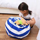 New Large Bean Bag Storage Stuffed Animal Chair For Kids Toys Stuff Sit Canvas