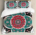 Arabesque Boho Duvet Cover Set Twin Queen King Sizes with Pillow Shams image