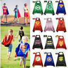 Kids Boys Marvel Superhero Cosplay Costumes Toddler Cape Blindfold Outfits Set