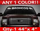 "DENVER "" BRONCOS "" w/Heads WINDSHIELD DECAL STICKER 44""w x5""h ANY 1 COLOR on eBay"