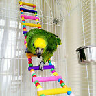 UK_ Bird Swing Wooden Bridge Ladder Climb Cockatiel Budgie Parrot Pet Toys Novel