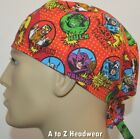 Marvel Characters Red Unisex Tie-Back Surgical Scrub Hat Chemo Cap*Size REGULAR
