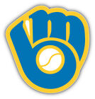 Milwaukee Brewers MLB Baseball Glove Logo Car Bumper Sticker - 9'', 12'' or 14'' on Ebay