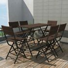 Outdoor Dining Bistro Set 3/5/7 Pieces Table&chair Poly Rattan Furniture Garden