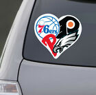Love Philadelphia Sports Car Sticker Laptop Decal Eagles Phillies Flyers 76ers on Ebay