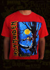 IRON MAIDEN FEAR OF THE DARK METAL ROCK RED MEN's T SHIRT SIZES image
