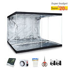 Hydroponic Reflective Mylar Grow Tent Kit Indoor Plant Growing W/Accessories