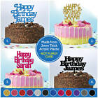 PERSONALISED Happy Birthday Cake Topper CUSTOM ANY NAME Decorations Party Cakes