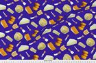 Food And Beverage French Cheese on Purple Fabric Printed by Spoonflower BTY