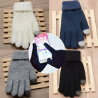 Lovers Knit Wool Touch Creen Gloves Man Women Winter Keep Warm Mittens Colorful