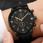 Fashion Geneva Men Date Alloy Case Synthetic Leather Analog Quartz Sport Watch image
