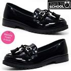 Girls School Shoes Kids Formal Party Evening Black Loafers Mocassin Shoes Size