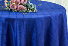 "Wedding Linens Inc. 108"" Pintuck Taffeta Round Table Overlay / Tablecloth"