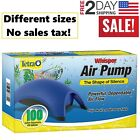 Tetra Whisper Aquarium Air Pump Fish Tank Quiet Filter 10 20 40 60 100 Gallon