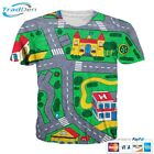 New 3D Men Women T-Shirt Funny Kids Road Game Cartoon Full Print Casual Fashion