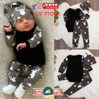 Newborn Baby Boys Girls Clothes Tops Romper Deer Pants Leggi
