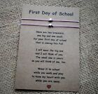 First Day of School Wish Bracelets / Mother and Daughter Back to School Gifts
