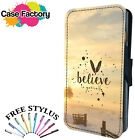 BELIEVE IN YOURSELF POSITIVE QUOTE - Leather Flip Wallet Phone Case Cover