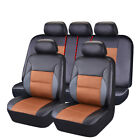 CAR PASS Car Seat Covers Breathable Sandwich Leather Universal fit 40/60 50/50