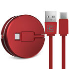 1M Retractable Type-C Fast USB Data Sync Charger Cable for Samsung S9 S8 S7 edge