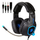 Gaming Headsets Stereo Surrounds Headphone 3.5mm USB For PS4 Xboxone PC with Mic